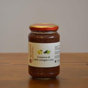 conserva-di-mele-cotogne e uva