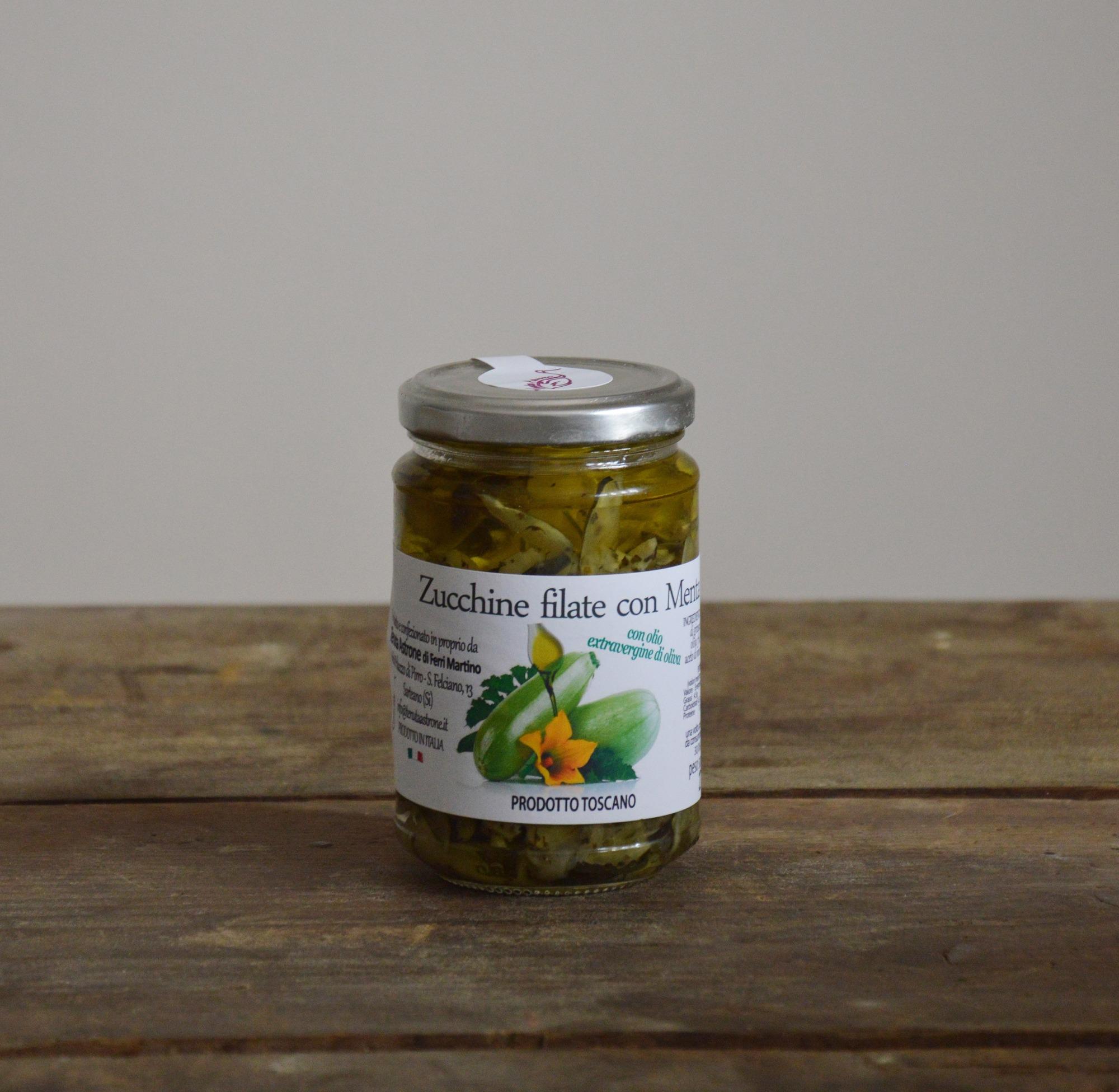 zucchine filate con menta Tenuta Astrone