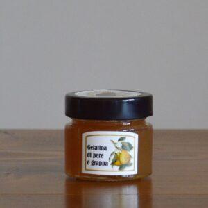 gelatina di pere e grappa