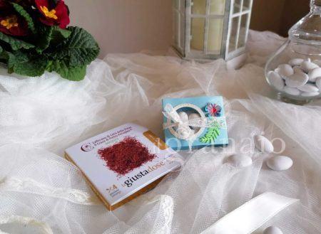 Zafferano bio con scatolina di confetti