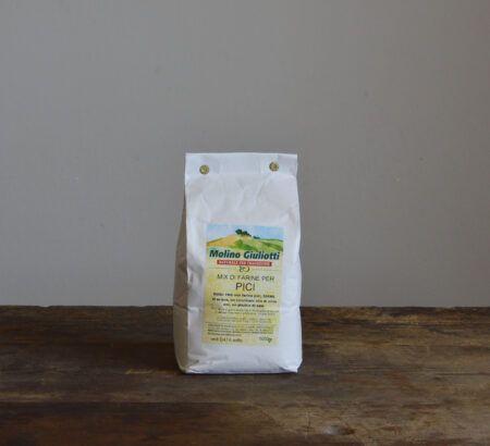 mix di farine per pici