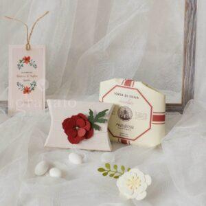 scatolina nozze papavero
